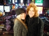 Stacy Michelle and Barbara Payton NYE in Times Square