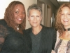 Barbara Payton and Thornetta Davis with Jamie Lee Curtis on The View