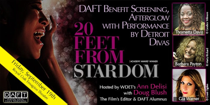 """20 Feet from Stardom"" Benefit Screening & VIP Afterglow with Editor Doug Blush & Host Ann Delisi"